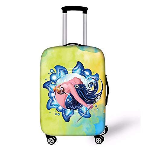 Gjcjy Thicker Stretch Stof Zeemeermin Koffer Cover Protector Stofzuiger Bagage Beschermende Covers Reizen Accessoires, Van toepassing op 18-32 Inch