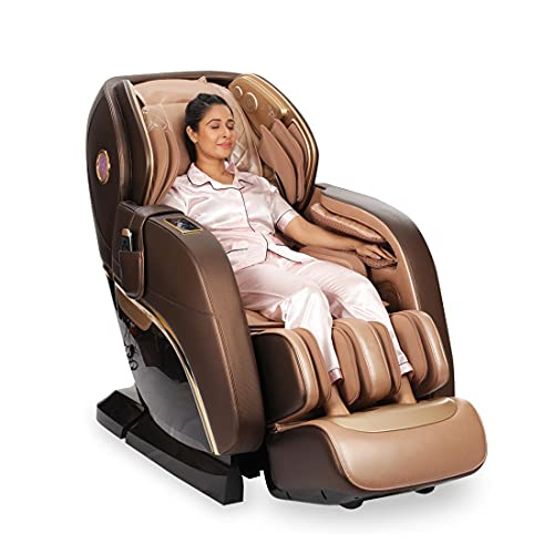 JSB MZ21 4D Massage Chair Zero Gravity for Home Stress Relief With Soft Rollers Music Bluetooth (SL Track)