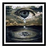 Nfjrrm DIY 5D Diamante Bordado Pintura Animal lágrimas Imagen con Diamantes de imitación y Diamantes Set 50x50cm sin Marco