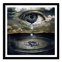 DIYクロスステッチキットダイヤモンド絵画 ダイヤモンドキットダイヤモンドペインティングフルドリルDIY5Dダイヤモンドアート 抽象的な涙の湖(30x40)CM
