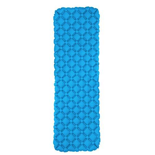 dflimited1 - Materassino da campeggio, impermeabile, per uso personale, gonfiabile, per zaino in spalla, viaggi, escursionismo, materasso ad aria, leggero, ultraleggero (blu lago)