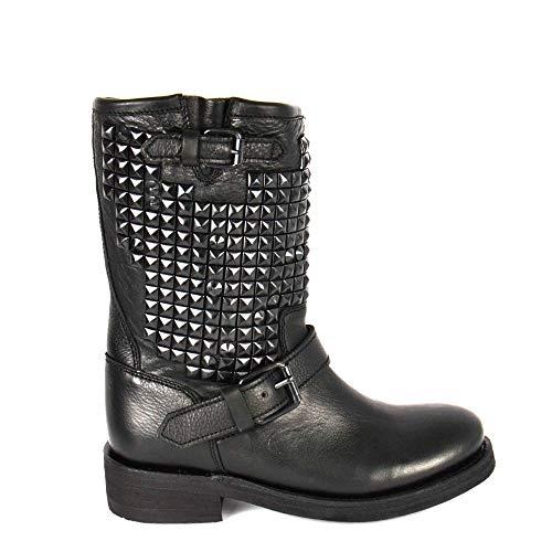 Ash Footwear Trash Stivali di Pelle con Borchie - Donna 36 Nero
