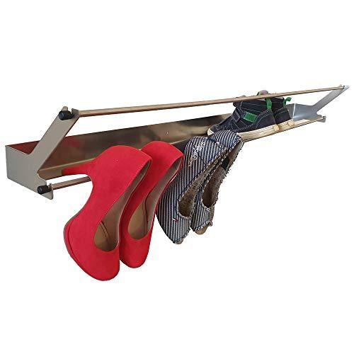 Lässig-Style Schuhregal schwebend für High-Heels Schuhe Kinderschuhe 10 Paar (Edelstahl, 1000mm)