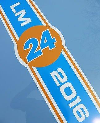 LE MANS 24 HEURES & CLASSIQUE 2016 ORANGE et bleu CAPOT BANDE autocollant