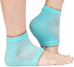 HoneyDell Heel Pain Relief Silicone Gel Heel Socks | Heel Protector Socks For Men And Women (Multi Color - As per Availability)