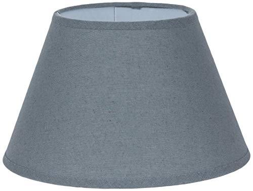 Better & Best 25 Lampenschirm aus Leinen, rund, 25 cm, mit beweglicher Kupplung, Grau