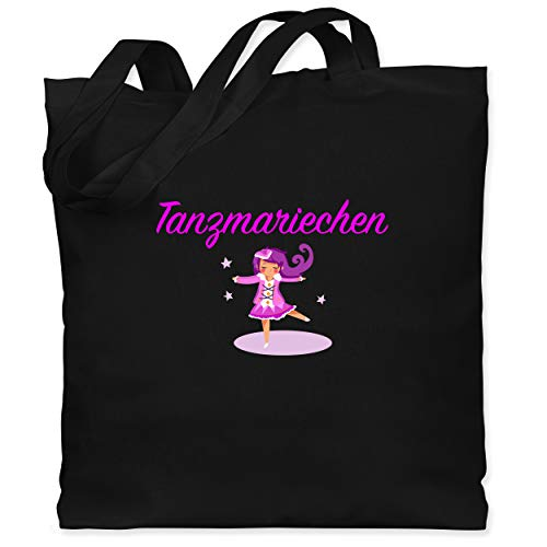 Shirtracer Karneval & Fasching - Tanzmariechen pink - Unisize - Schwarz - pinke jutebeutel - WM101 - Stoffbeutel aus Baumwolle Jutebeutel lange Henkel