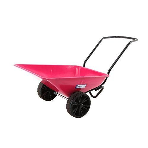 Hörby Bruk Klassische Schwedische Gartenkarre mit Vollreifen,Farbe (Pink)