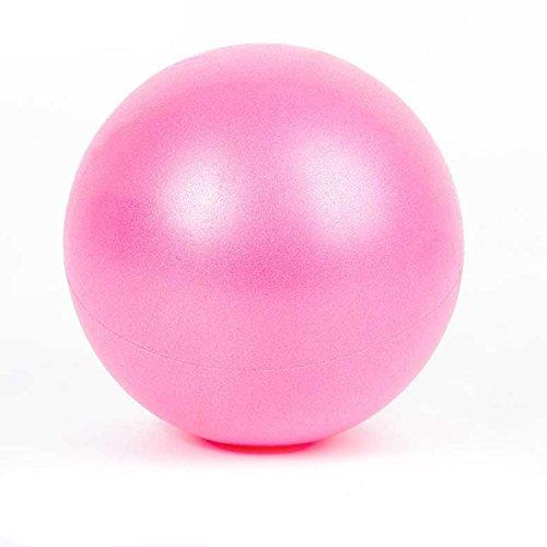 Leoie Yoga ejercicio culturismo Yoga Pilates Fitness Balance & Stability Mini pelota de PVC para ejercicios de postura de ejercicio, color rosa