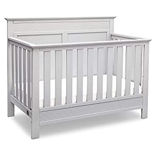 Serta Fall River 4-in-1 Convertible Baby Crib, Bianca White