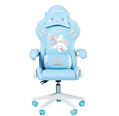 Lindas sillas de Dibujos Animados Dormitorio cómodo Oficina de Oficina Oficina casa Chicas Chicas Silla Giratorio Silla Ajustable en Vivo sillas, Pattern 9,Standard