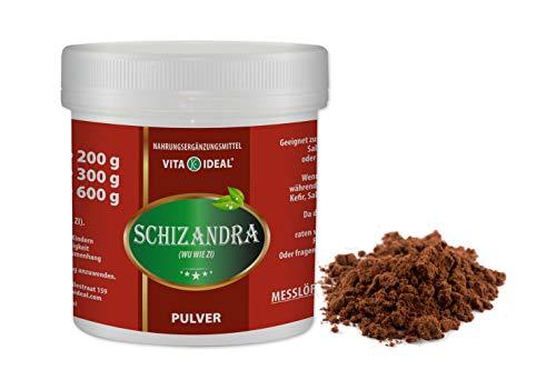 VITAIDEAL ® Schisandra Beeren PULVER 300g (Schizandra, Wu Wei Zi) + Messlöffel von NEZ-Diskounter