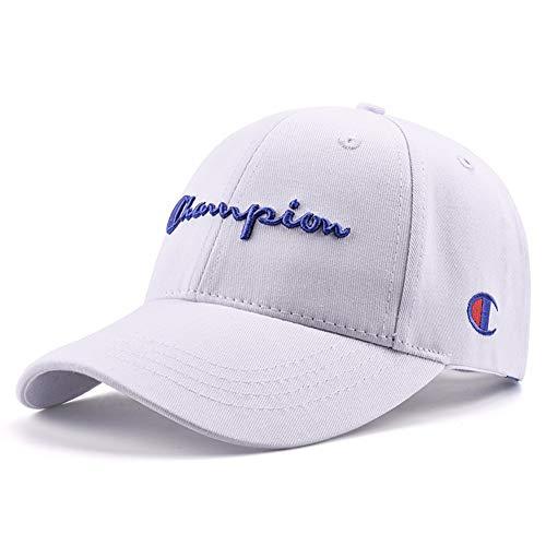 MZ Hut Baseball Cap Männer und Frauen Casual Cap Paar Reisen aus der Straße Hut Hip Hop Champion Cap (einstellbar), weiß