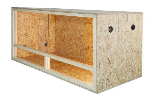 REPITERRA terrarium voor reptielen en amfibiën, houten terrarium met zijventilatie 100x60x60 cm