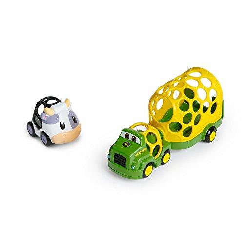 Bright Starts, John Deere, Oball, Go Grippers, Spielzeug Lastwagenset, leicht greif- und haltbar, ab 12 Monaten