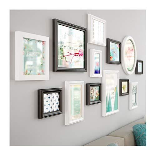 TAO Grand ensemble de cadres multi-photo-mur en bois photo combinaison de salon suspendu décor mural 156 * 62cm