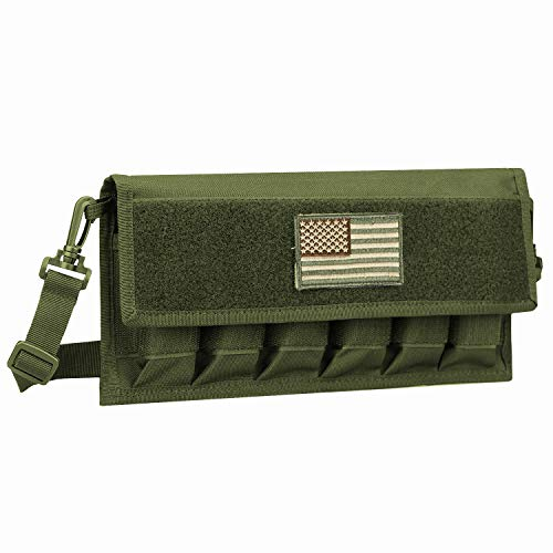 AMYIPO Tactical Gun Pistol Magazine Storage Pouch 6 Mag Holder (Only Pouch) for Training, Outdoor (Green)