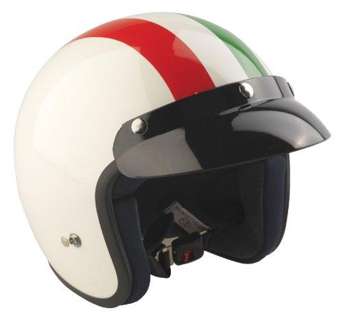 RS-04- Casco jet para moto con la bandera de Italia L Rosso/Bianco/Verde