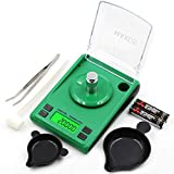 4. MAXUS Dante Digital Milligram Scale 50g x 0.001g, incl. Calibration Weight,Weighing Pan,Scoop and Metal Tweezers 771gn x 0.02gn High Precision Pocket Reloading Gram Scale Medicine Powder Scale Jewelry