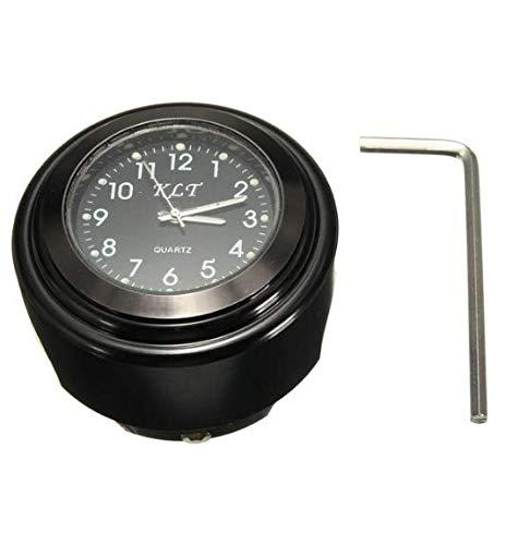 Wooya Motorrad Bike Lenker Mount Dial Uhr Uhr 7/8inch 1inch Universal Für Harley-Schwarz