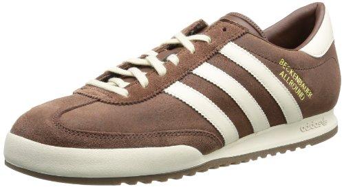 adidas Beckenbauer - Caña baja de cuero hombre, color marrón, talla 44 2/3 ✅