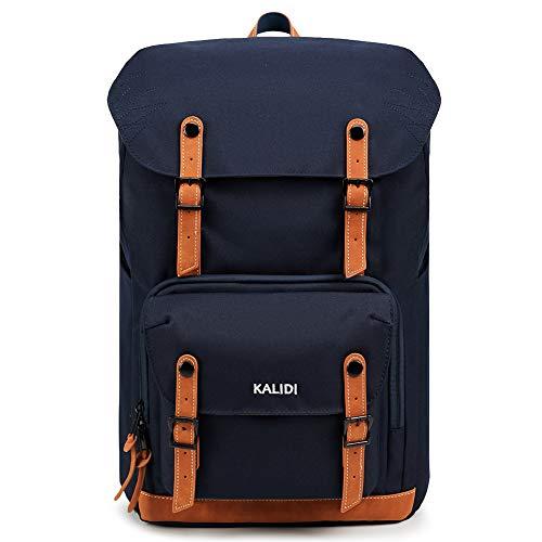 KALIDI 17 Zoll Laptop Backpack Großer Rucksack Wanderrucksack bis zu 15.6 Zoll Laptop Notebook Arbeit Campus Studenten Outdoor Reisen Wandern (Blau)