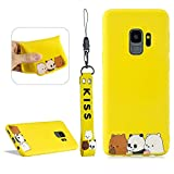 LCHDA For Samsung Galaxy S9 Plus 3D Cartoon Case,Samsung Galaxy S9 Plus Cute Squishy Cat Animal Print Pattern Kawaii Soft Silicone Protective Back Phone Cover Skin For Teen Girls Boys - Bear