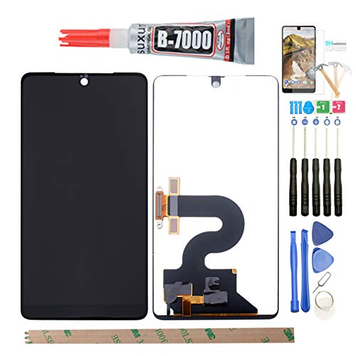 YHX-US Replacement Assembly for Essential PH-1 2017 5.71' LCD Display Touch Screen Digitizer with a Piece Tempered Film + A Set of Tools-Black