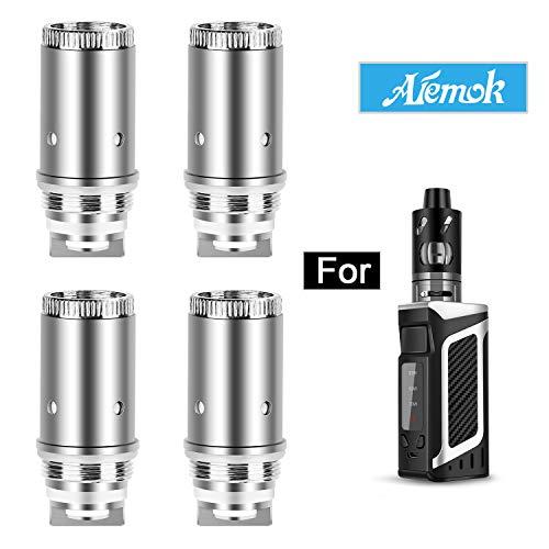 Resistenze di ricambio, Aiemok 0.5 Ohm per Sigaretta Elettronica, Original Bobina Sostitutiva per Aiemok Starter Kit 80W, Senza Nicotina (4 pezzi)