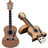 Y56 U Disk 32Go Guitare clé USB 2.0Métal Mémoire Flash Memory Stick Pouce U Disque Dur USB L...