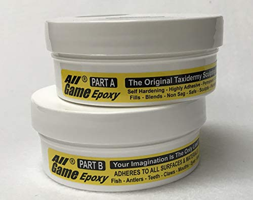 All Game Epoxy Sculpting Putty Taxidermy Antler Art Crafts Deer Fish - 1/2 lb Unit