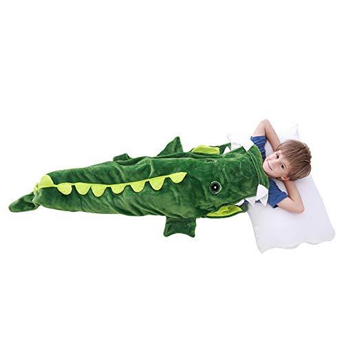 LAT LEE AND TOWN Krokodil Hai Schwanzflosse Kuscheldecke Meerjungfrau Schlafsack Schlafdecke Flanell Decke Geburtstagsgeschenke für Kinder Mädchen Junge (Meerjungfrau)