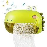 Lehoo Castle Juguetes de baño para bebés, dinosaurios, juguete de baño, máquina de burbujas con música, juguete para bañera con 250 ml de capacidad para fijar a la pared