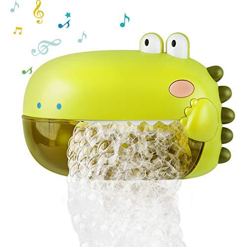 Lehoo Castle Juguete de baño para bebés, máquinas de burbujas con música, juguete para bañera con capacidad de 250 ml en la pared.