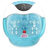 Turejo Foot Spa Massager - Heated Bath, 14Massage Rollers, Foot Stone, Bubbles, Digital Adjustable Temperature Control, Red Light, medicine box
