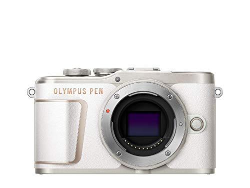 Olympus E-PL10 - Cámara de 10 MP, batería y cargador incluidas, color blanco