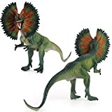Moanyt Realistic Looking Dilophosaurus Dinosaur Action Figure Toys Simulation Plastic Dinosaurs Ornaments for Kids and Toddler Girls Boys Education