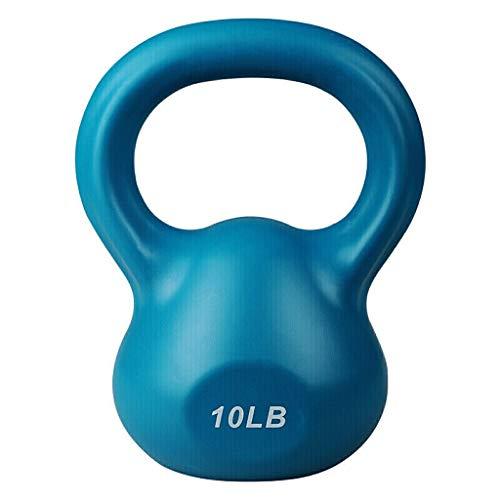 Korte halters fitness kettle Vrouwen Mannen huishoudens uitverkoop Sport kunststof kettle bal ketel heffen halter halter halter Blue 10 Lb halters