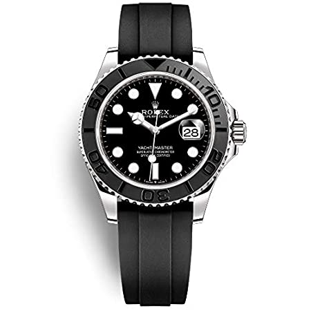 Fashion Shopping Rolex Yacht-Master 42 White Gold/Oysterflex Bracelet/ 226659-0002 / Black Dial