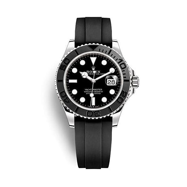 Fashion Shopping Rolex Yacht-Master 42 White Gold/Oysterflex Bracelet/ 226659-0002 / Black Dial