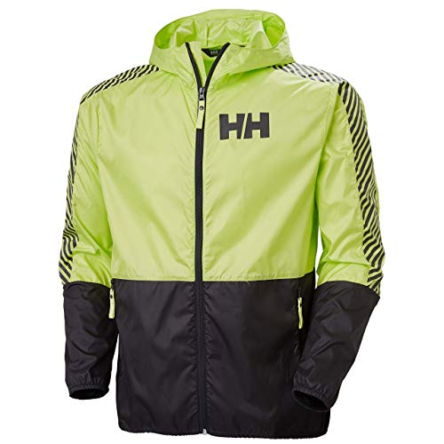 Helly Hansen Chaqueta cortavientos para hombre, 53442, Large, Verde (Sunny Lime)