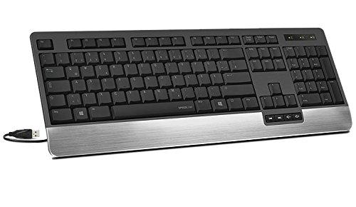 LUCIDIS Comfort Illuminated Keyboard black - US Layout