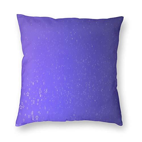 FULIYA Funda de cojín de lino para sofá y coche, con cremallera invisible, 45 x 45 cm, juego de 1, textura, estrellas, adornos, brillante, brillante