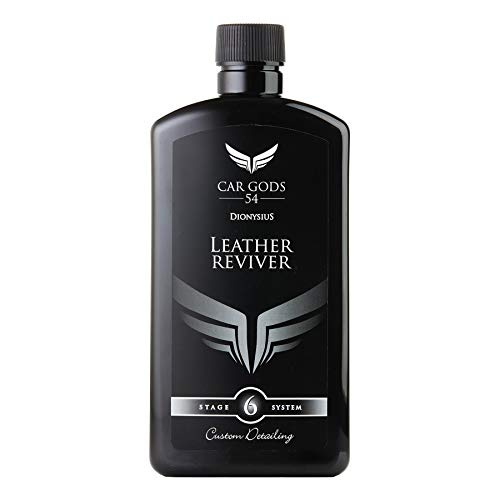 Car Gods Leather Reviver Conditioner Moisturising Balm For Seats 500ml - Cleaner Interior Seat Care Auto Dashboard Clean Inner Upholstery - For All Shades - Restores to Original Look - Natural Finish