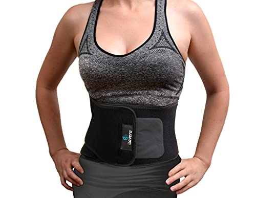 Isavera Tummy Sculpting Freeze System | Non-invasive Cold-Isolation Treatment to Reduce the Appearance of Flab Around Stomach | Cold Sculpting Wrap Belt | Trim Tummy with our Waist Trainer Black
