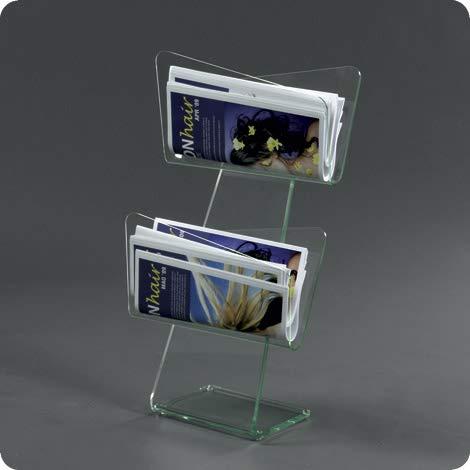 PlexCollection Zeitschriftenständer aus transparentem Plexiglas