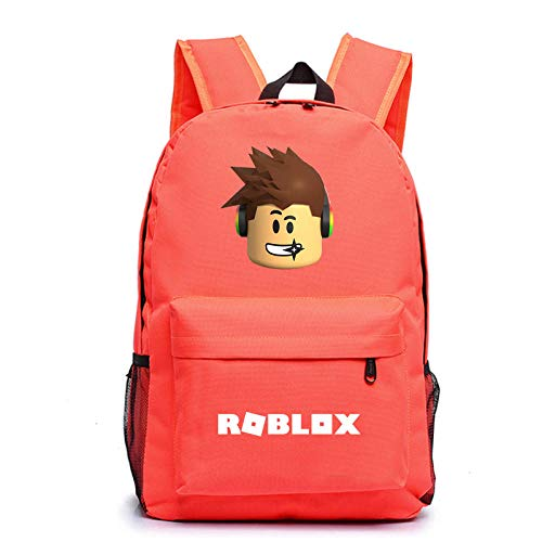 Creative r-o-b-l-o-x Multi-Color Backpack Multifunctional Outdoor Travel Bag Student Backpack Large Capacity Custom School Bag 2-Orange red Pattern 3_One Size