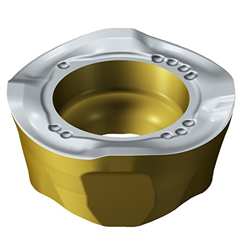 Sandvik Coromant, 600R-1252M-MM M30B, CoroMill 600 Insert for Milling, Carbide, Round, Right Hand Cut, M30B Grade, Ti(C,N)+Al2O3+TiN, Wiper, iLock Interface (Pack of 10)