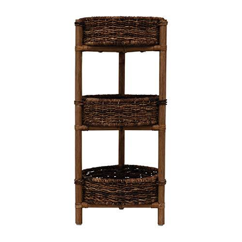 Bloomingville Rattan & Wood Tisch mit 3 Ablagen, Braun