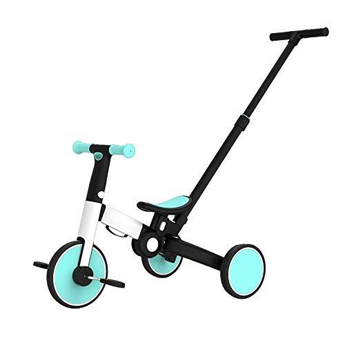 DKZK 3 in 1 Kids Trike per 1-3 Anni Ragazzi Ragazze Toddlers Triciclo 3 Ruote Baby Balance Bike Leggero Pieghevole Trike Sedile Regolabile Balance Training Bicycle